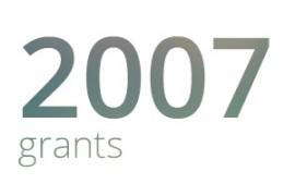 Grants awarded for 2007