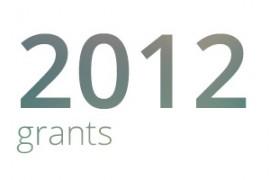 Grants awarded for 2012